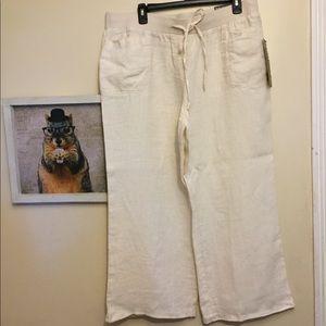 Style & Co linen Capri pants